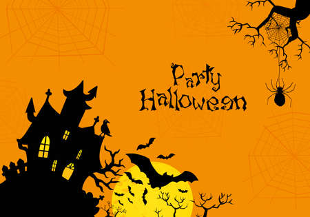 Vector Halloween orange background Vector