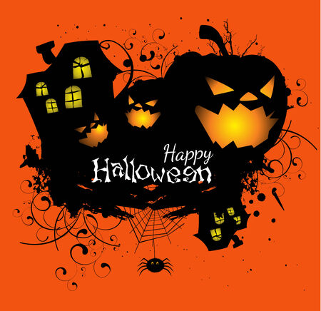 Halloween grunge vector card or background Vector