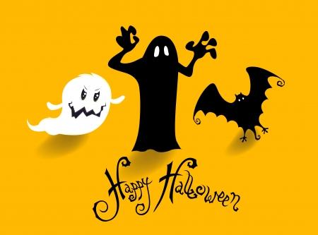 poster banner or background for halloween party night Vector