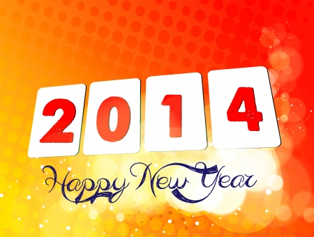 2014 happ new year Vector