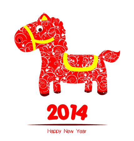 happy new year year of horse Vector
