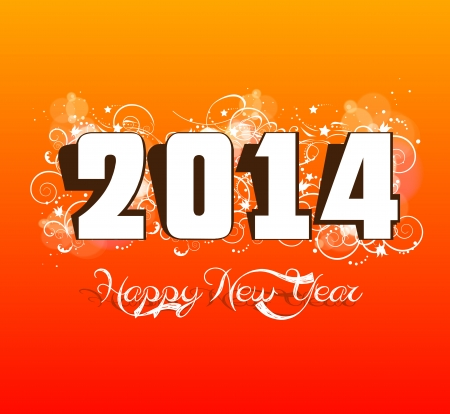 new year 2014 label design Vector