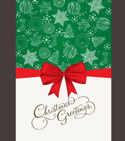christmas and new year vector greeting card Illustration