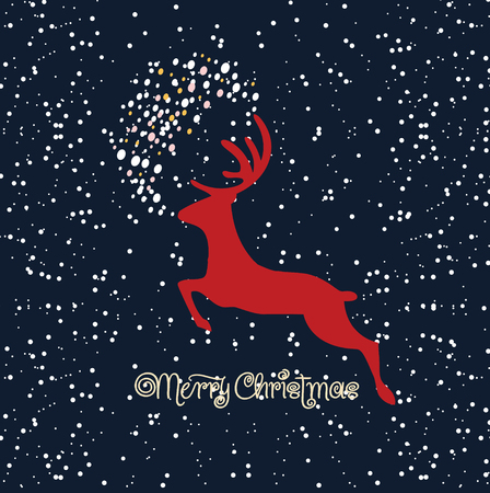 poster merry christmas Vector