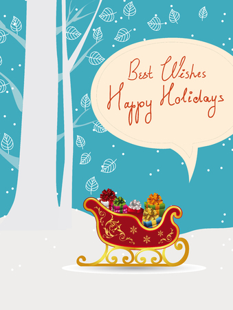 All Wrapped Up Holiday Card Vector