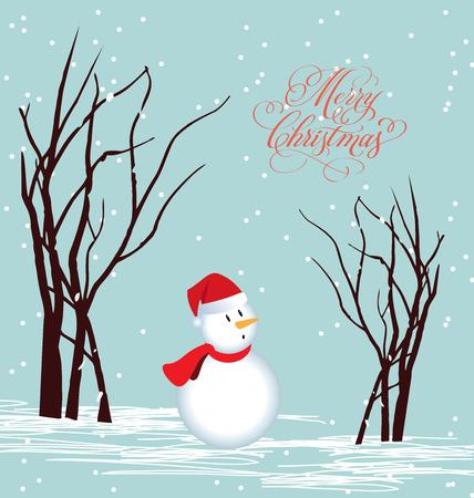 new year s santa claus: Merry christmas card Snowman