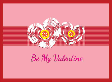 kids crafting be my valentine card Vector
