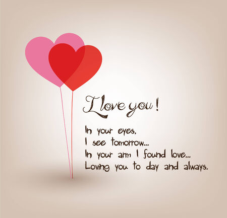 i love you greetings card Vector