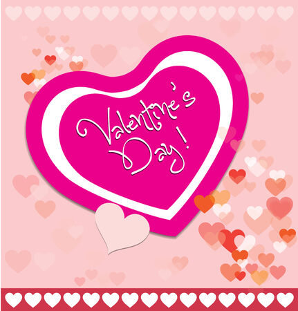 valentine greeting hearts banner and card background Vector