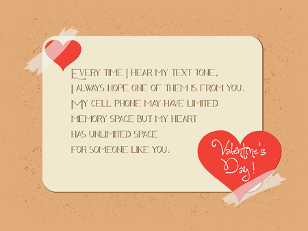 valentine greeting poster card Vector