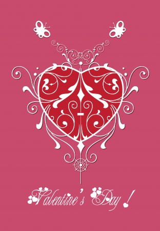 valentine greeting hearts pattern abstract Vector