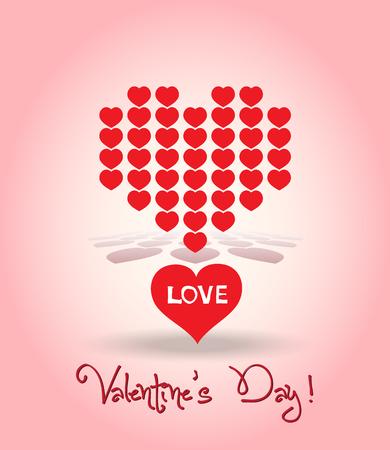 Valentine decoration hearts Vector