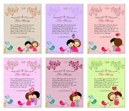Letterhead valentines set Vector