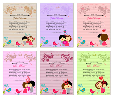 post scripts: Letterhead valentines set