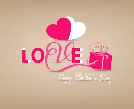 love typography paper concept Vector