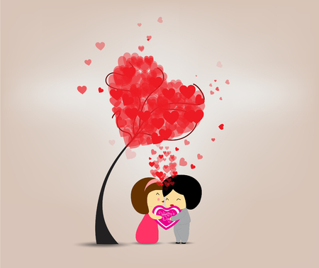Be happy valentine s day Vector
