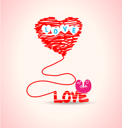 Love typography Vector