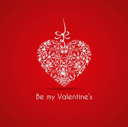 carta de amor: Tarjeta de San Valent�n s con un regalo Vectores