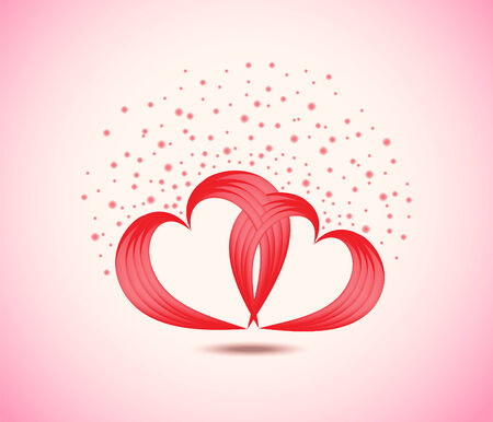 background of pair of valentine Vector