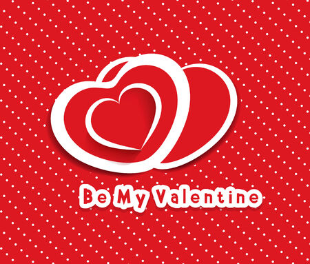 paper heart Valentines day card Vector