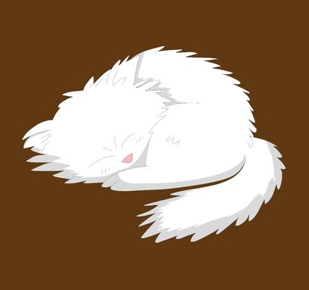 white dog Vector