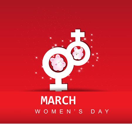 womenīŋŊs: Women s day abstract background