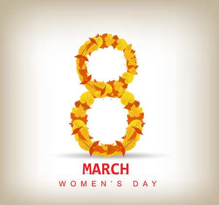 Women s day abstract background Vector