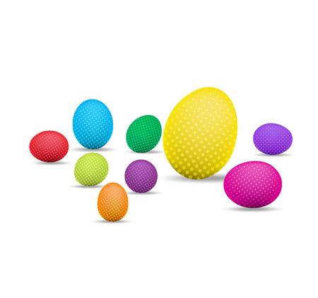 Oeufs de Pâques et joyeuses pâques