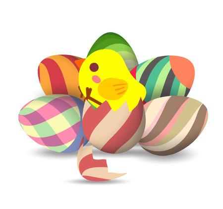 eggs hatch Vector