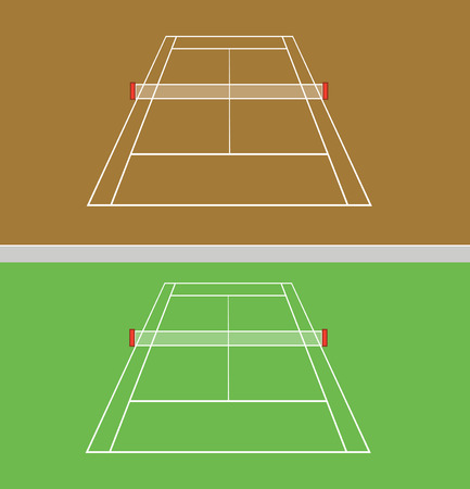 synthetic court: set of tennis courts