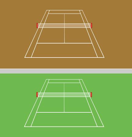 tennis stadium: set of tennis courts