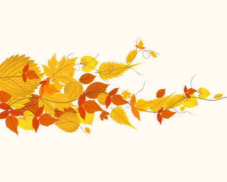 dinner date: autumn background with leaves Illustration