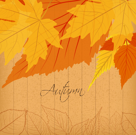 dinner date: autumn leaves background