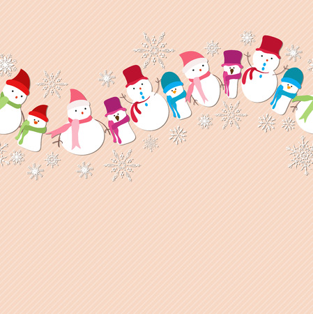 stovepipe: christmas snowman icons seamless pattern
