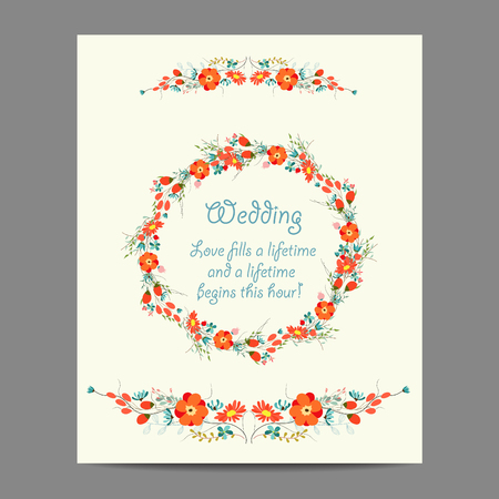 x mas parties: Wedding invitation cards with floral elements