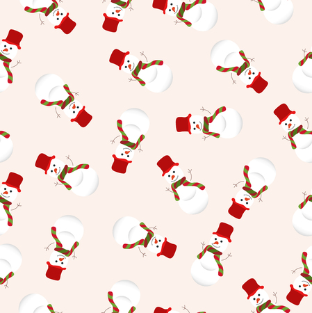 stovepipe: christmas seamless pattern with snowman