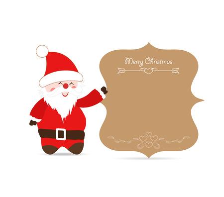 oldman: Santa claus greeting card retro