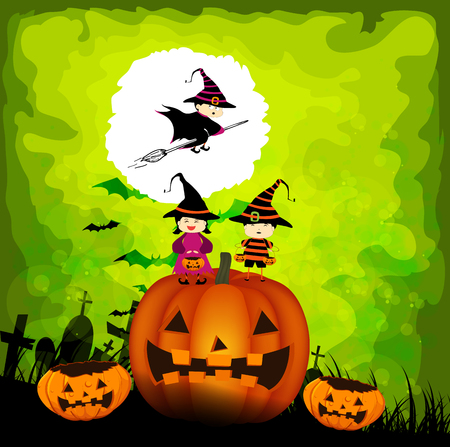 trick or treating: halloween kids party Illustration