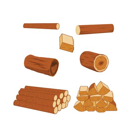 cut logs: registros  Vectores