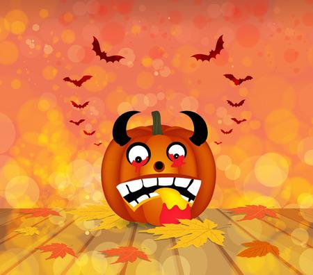 passion ecology: pumpkin autumn background Illustration
