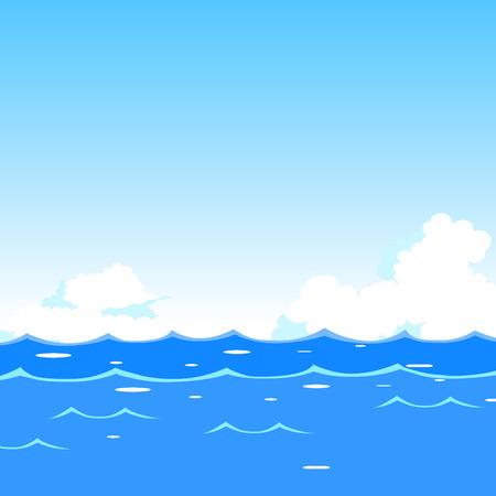 Mar olas de fondo