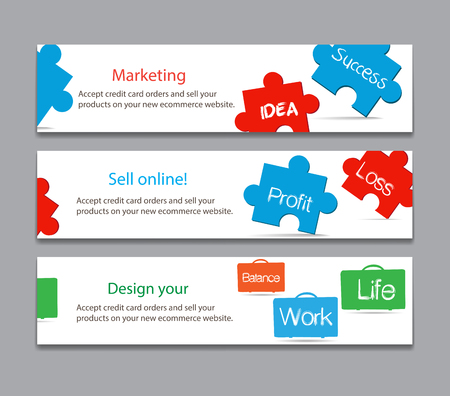 works and success life on keyboard banner Illustration