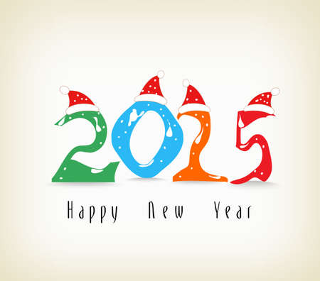 new year greeting: Happy new year greeting card Illustration