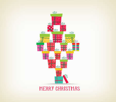 christmas gifts: merry christmas with gifts Illustration