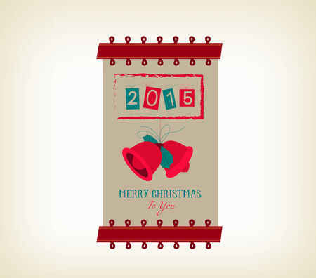 happy new year banner: vintage merry christmas and happy new year banner