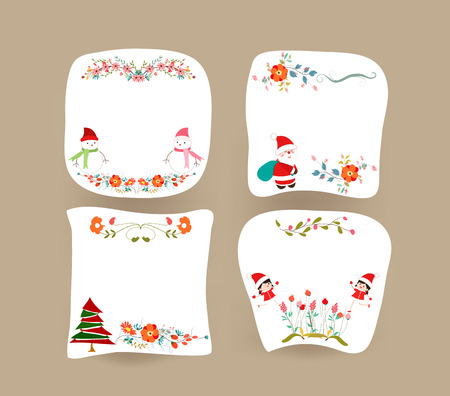 Christmas banners, holiday graphic symbol Vector