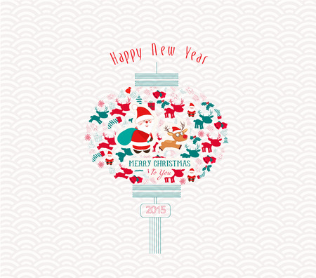 chinese new year element: Chinese christmas and New Year Element design