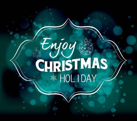 holiday light: enjoy christmas holiday light vector background