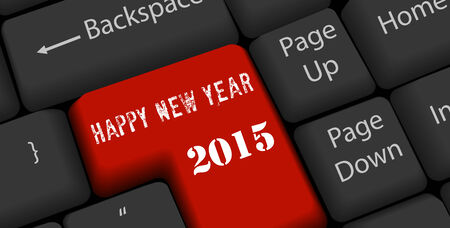 happy nea year on enter keyboard Vector