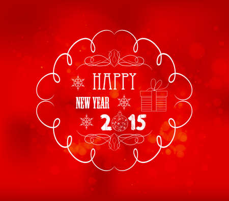 party down: happy new year light vector background